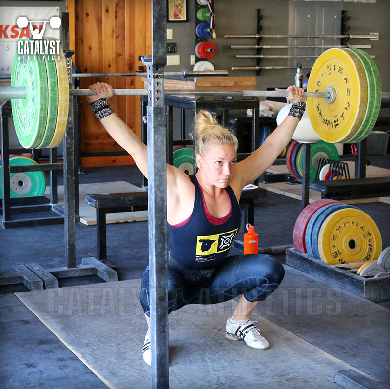 Chelsea overhead squat - Olympic Weightlifting, strength, conditioning, fitness, nutrition - Catalyst Athletics