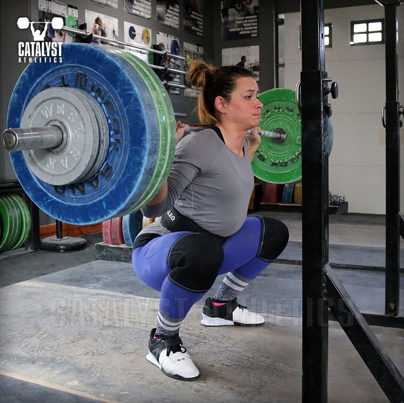 Jess back squat - Olympic Weightlifting, strength, conditioning, fitness, nutrition - Catalyst Athletics