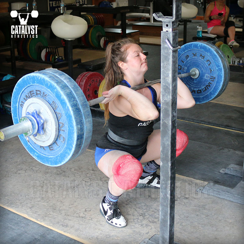 Lindsay front squat - Olympic Weightlifting, strength, conditioning, fitness, nutrition - Catalyst Athletics