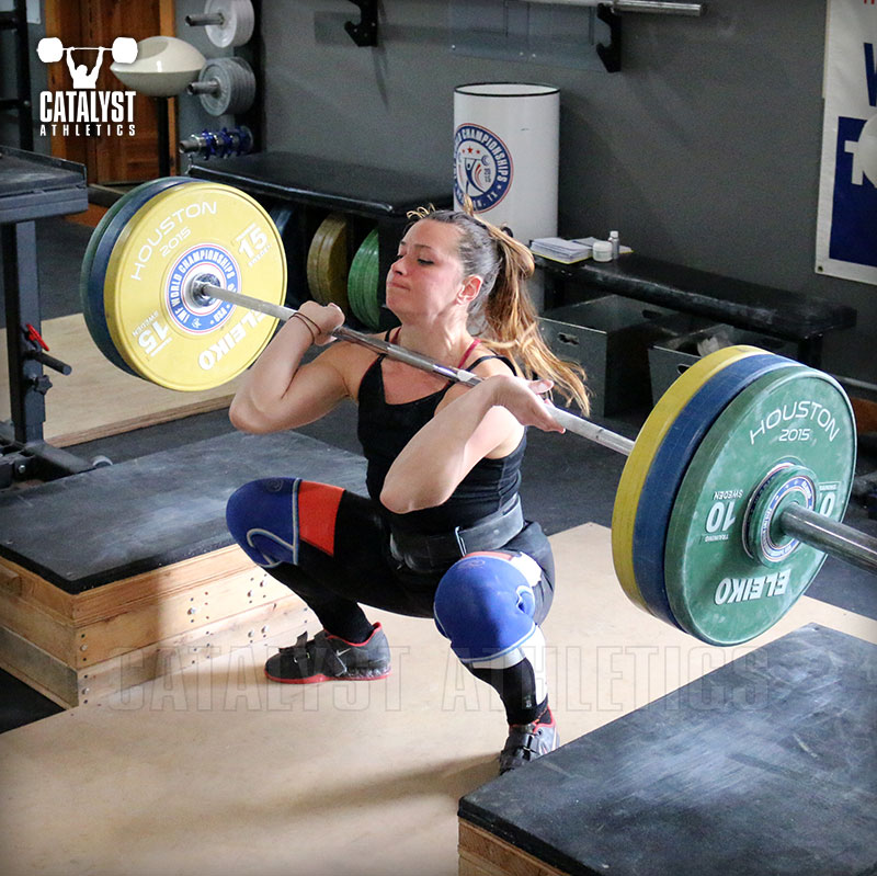Jess block clean - Olympic Weightlifting, strength, conditioning, fitness, nutrition - Catalyst Athletics