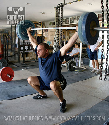 Stephane Rochet making a bodyweight snatch - Olympic Weightlifting, strength, conditioning, fitness, nutrition - Catalyst Athletics