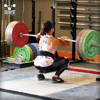 Snow front squat - Olympic Weightlifting, strength, conditioning, fitness, nutrition - Catalyst Athletics