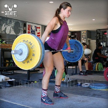 Jess halting snatch deadlift - Olympic Weightlifting, strength, conditioning, fitness, nutrition - Catalyst Athletics