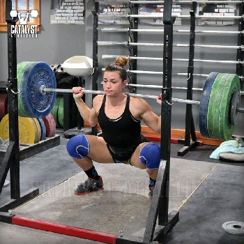 Jessica back squat - Olympic Weightlifting, strength, conditioning, fitness, nutrition - Catalyst Athletics