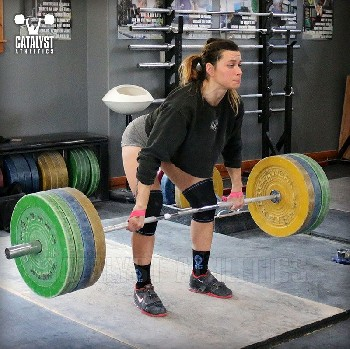 Jess clean deadlift