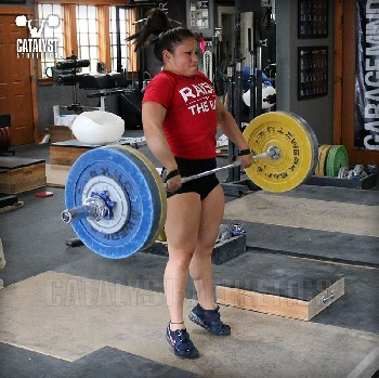 Lily block clean pull - Olympic Weightlifting, strength, conditioning, fitness, nutrition - Catalyst Athletics