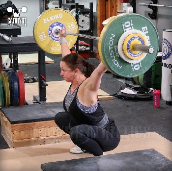 Aimee block snatch - Olympic Weightlifting, strength, conditioning, fitness, nutrition - Catalyst Athletics