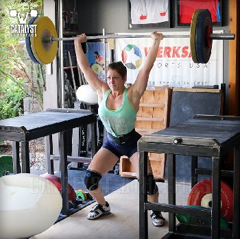 Erin power jerk - Olympic Weightlifting, strength, conditioning, fitness, nutrition - Catalyst Athletics