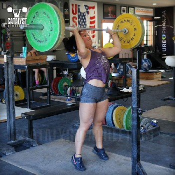 Lily push press - Olympic Weightlifting, strength, conditioning, fitness, nutrition - Catalyst Athletics
