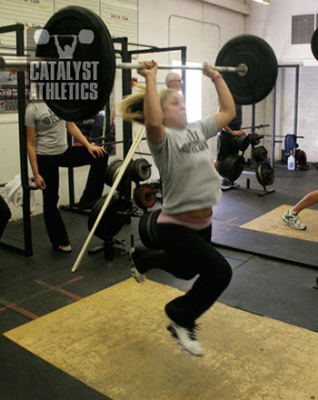 Danielle from FIT in Los Altos, CA at the CA weightlifting clinic in Fallbrook - Olympic Weightlifting, strength, conditioning, fitness, nutrition - Catalyst Athletics