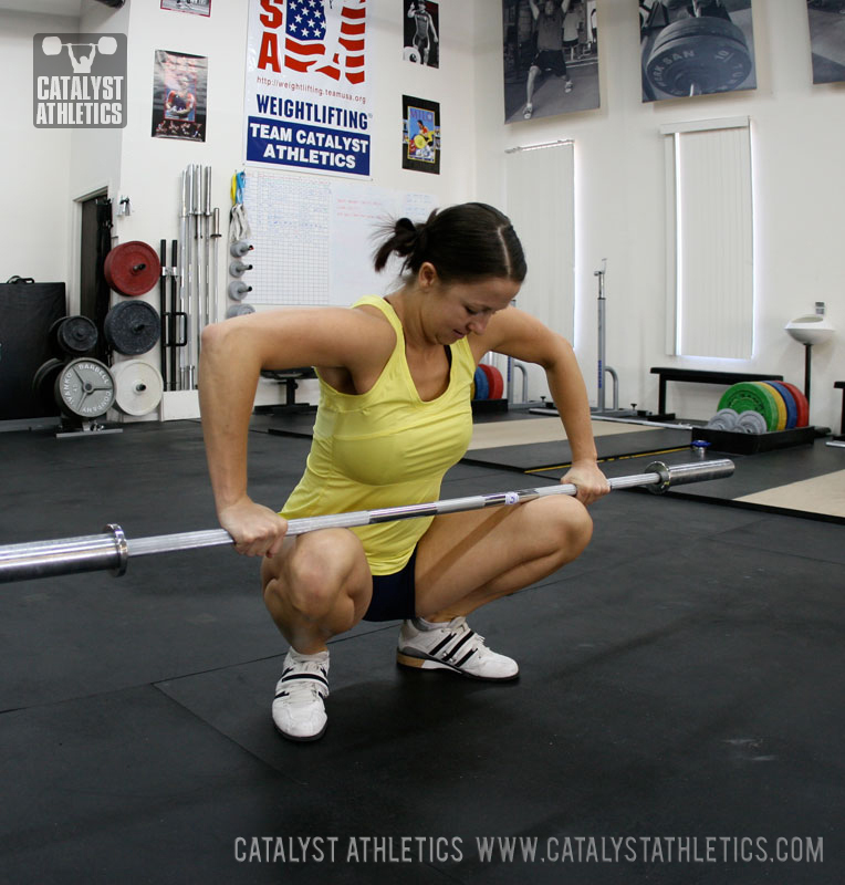 Ankle stretch with barbell