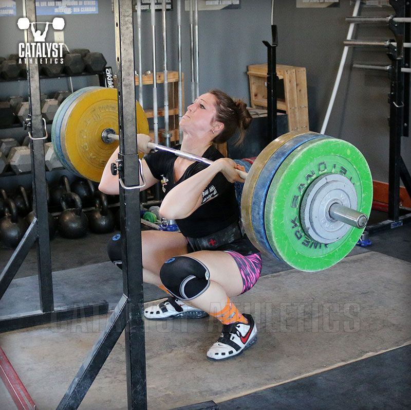 Erin front squat - Olympic Weightlifting, strength, conditioning, fitness, nutrition - Catalyst Athletics