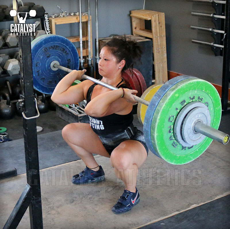 Lily front squat - Olympic Weightlifting, strength, conditioning, fitness, nutrition - Catalyst Athletics