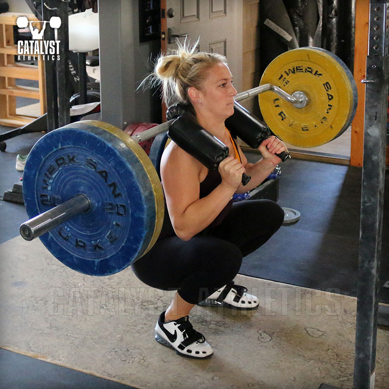 Chelsea safety bar squat - Olympic Weightlifting, strength, conditioning, fitness, nutrition - Catalyst Athletics