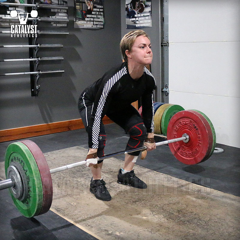 Amanda clean deadlift - Olympic Weightlifting, strength, conditioning, fitness, nutrition - Catalyst Athletics