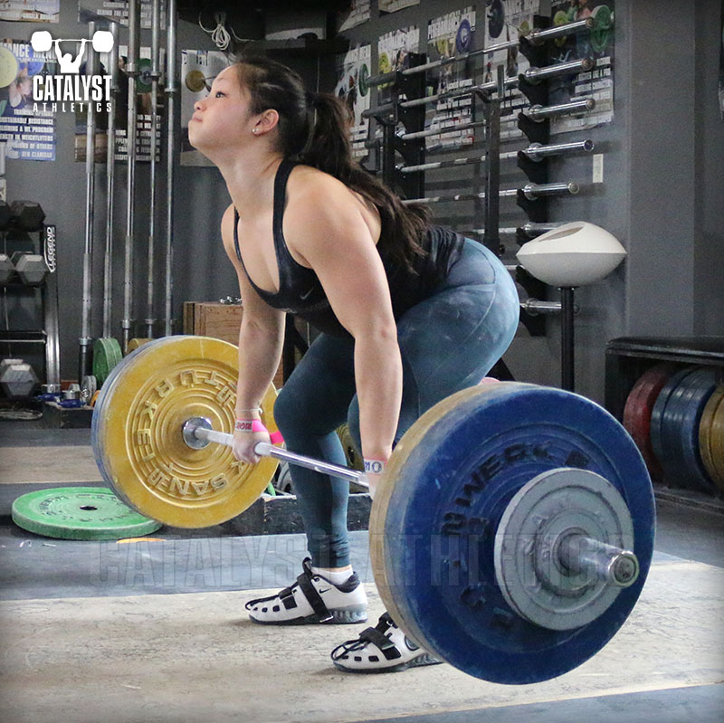 Lily clean pull - Olympic Weightlifting, strength, conditioning, fitness, nutrition - Catalyst Athletics