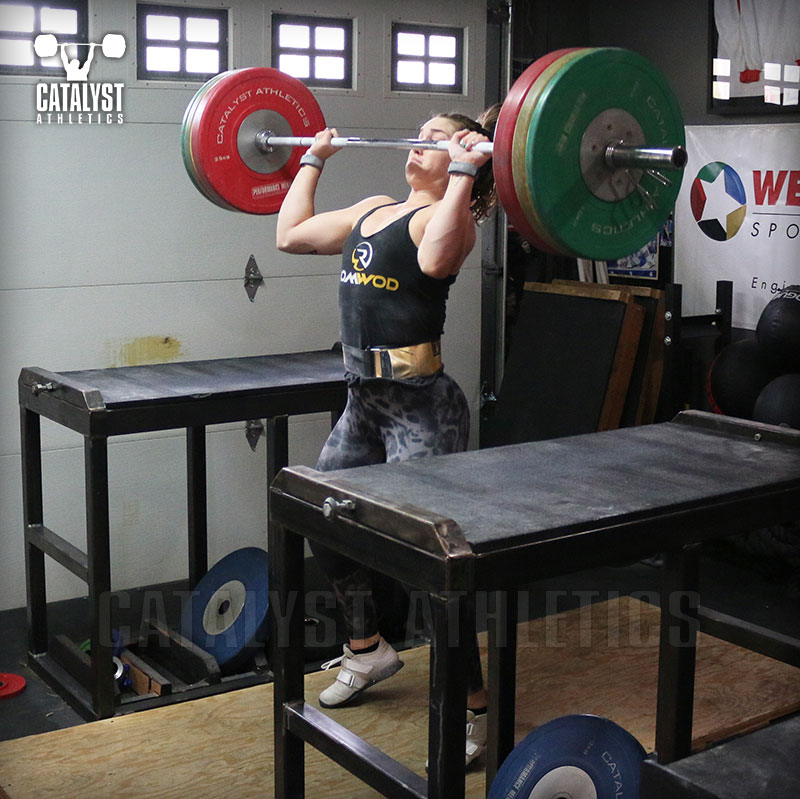 Mattie power jerk - Olympic Weightlifting, strength, conditioning, fitness, nutrition - Catalyst Athletics