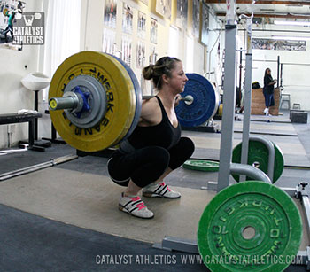 Aimee back squat