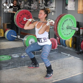 Jessica power clean - Olympic Weightlifting, strength, conditioning, fitness, nutrition - Catalyst Athletics