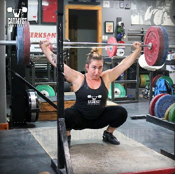 Sam overhead squat - Olympic Weightlifting, strength, conditioning, fitness, nutrition - Catalyst Athletics