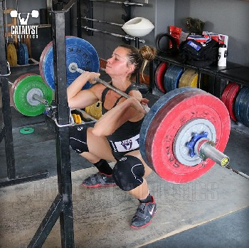 Jessica front squat - Olympic Weightlifting, strength, conditioning, fitness, nutrition - Catalyst Athletics