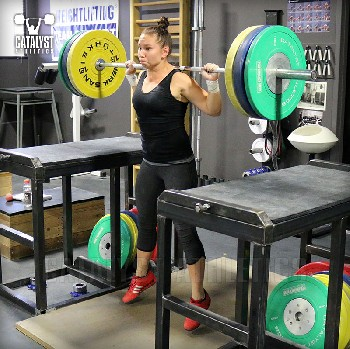Alyssa jumping squat - Olympic Weightlifting, strength, conditioning, fitness, nutrition - Catalyst Athletics