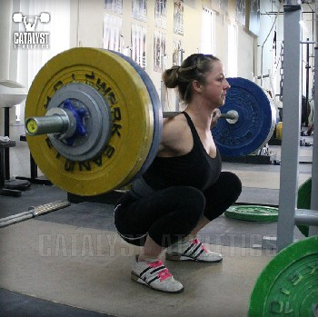 Aimee back squat - Olympic Weightlifting, strength, conditioning, fitness, nutrition - Catalyst Athletics