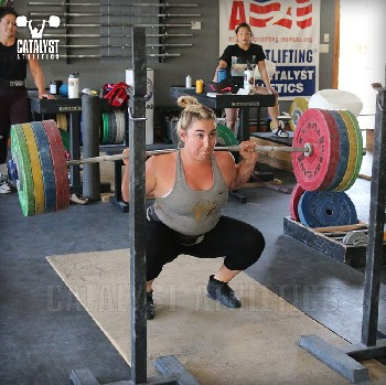 Sam back squat - Olympic Weightlifting, strength, conditioning, fitness, nutrition - Catalyst Athletics