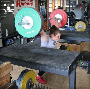 Juliana snatch balance - Olympic Weightlifting, strength, conditioning, fitness, nutrition - Catalyst Athletics